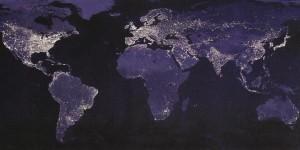 Planeta Země v noci