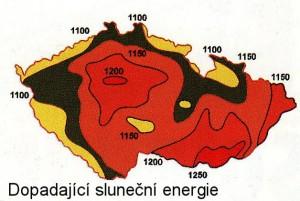 Dopadající sluneční energie [W]