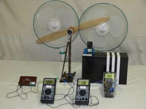 Větrná elektrárna - rychlost větru 12 km.h-1