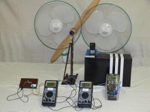 Větrná elektrárna - rychlost větru 8 km.h-1
