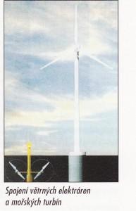 Spojení větrných elektráren a mořských turbín