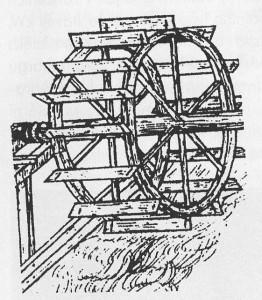 Vodní kolo - dolní voda